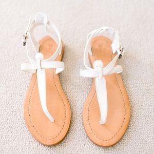 Frye Rachel T-Strap Sandal in White